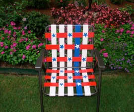Stars and Stripes Duct Tape Lawn Chair
