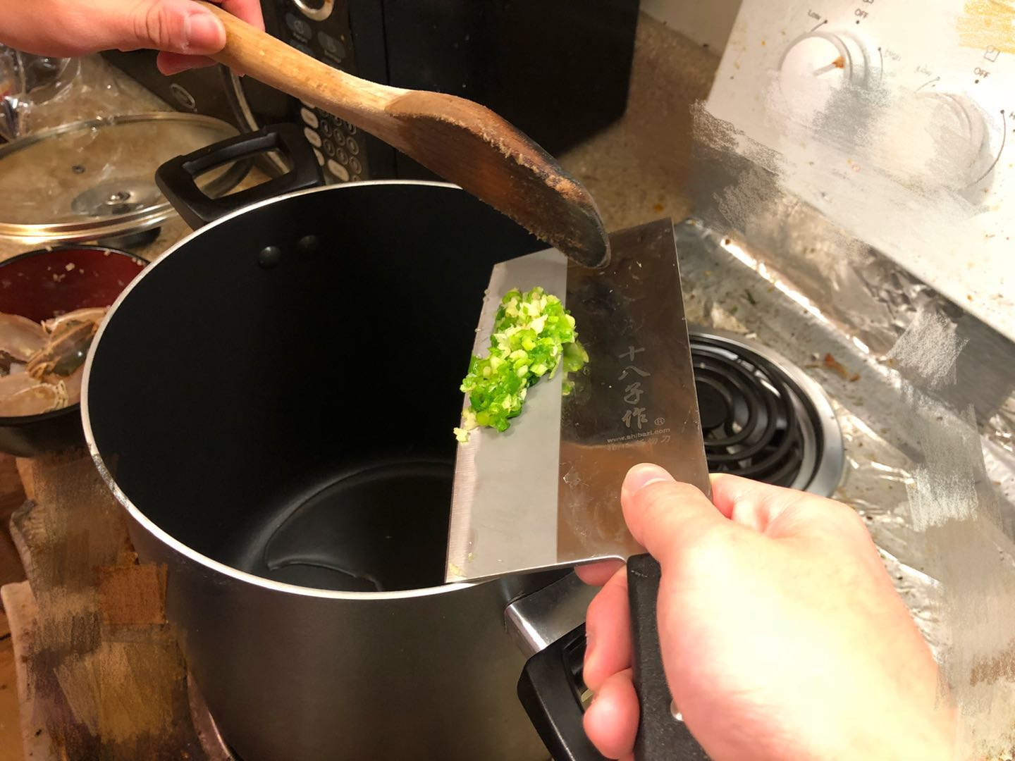 Picture of Cooking Procedures - Preheat and Oil Up the Soup Pot