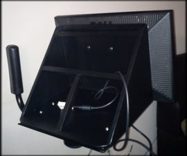 How to convert a crt tv wall mount into a movable flate screen wall mounting unit