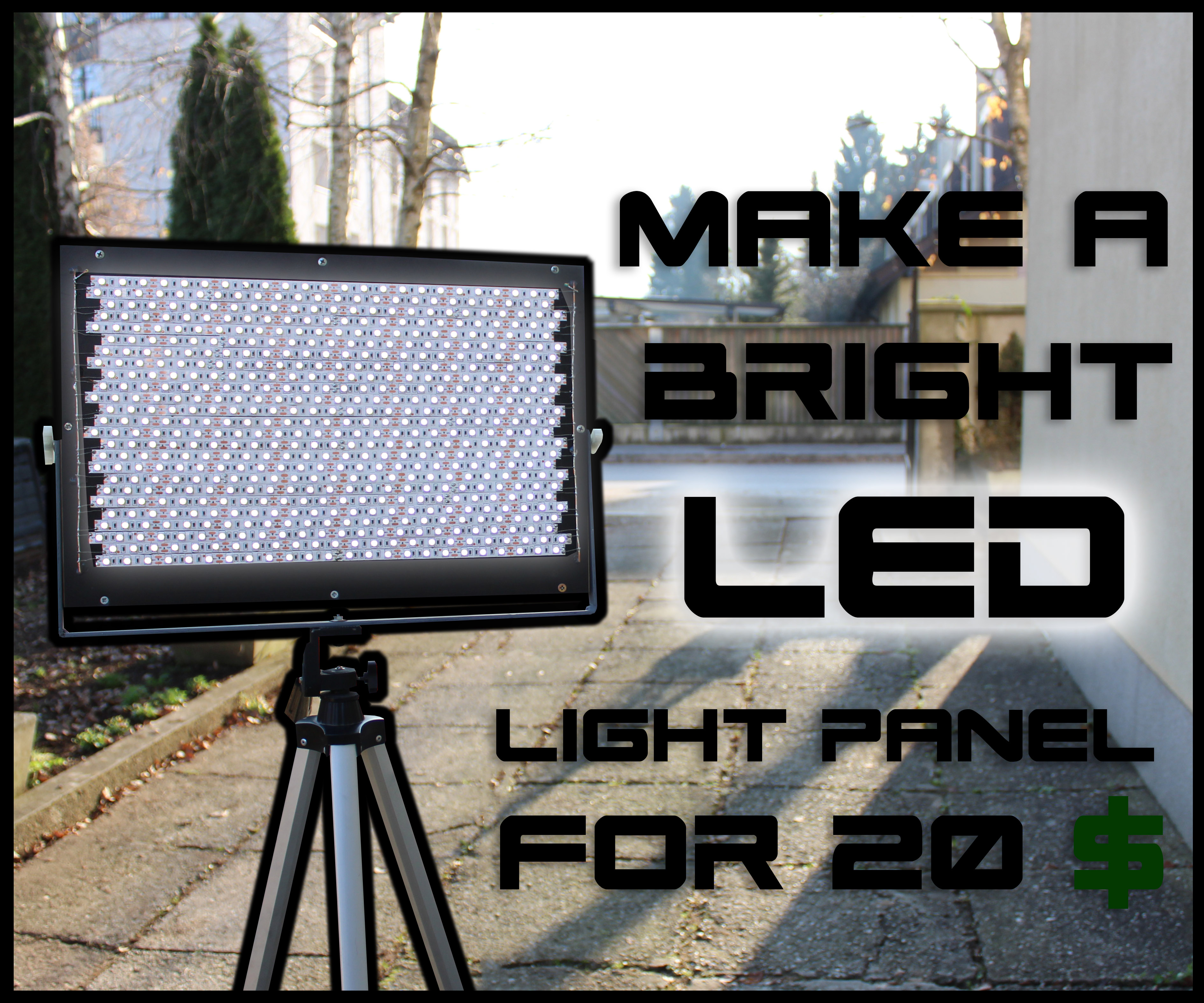 Picture of How to Make a Bright LED Panel for 20$
