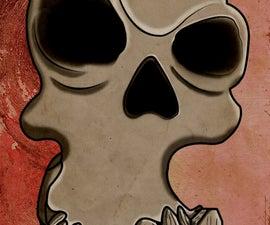 Big Grinning Cartoon Skull