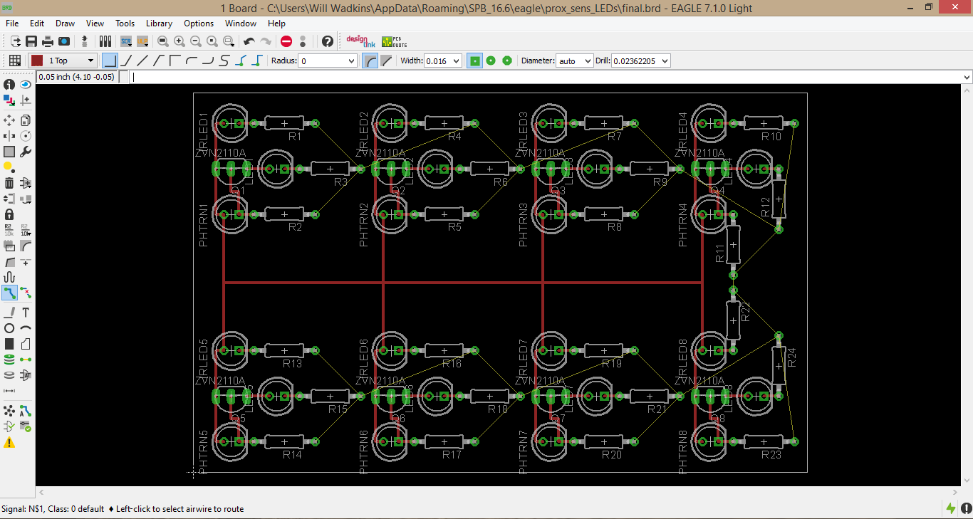 Picture of Routing the Traces