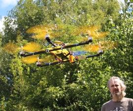 Simple lightweight Hexacopter (A2212 motors, 30AMP ESC, AIOP FC, 3000mAh 11.1v Lipo)