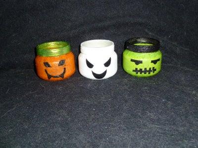 DIY Halloween Candle Holders