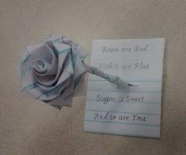 Origami Note Rose