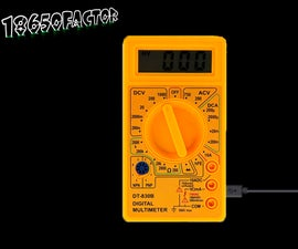 Multimeter Upgrade on Li-ion Battery With Charging From USB