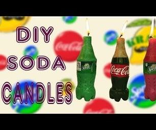 Make Mini Coca Cola & Sprite Candles DIY Soda Candles
