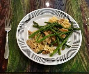 Recipe: Lemon Chicken Pasta With Asparagus