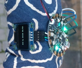 Deathwatch -- Wearable Life Expectancy Timer Using Adafruit Circuit Playground + OLED