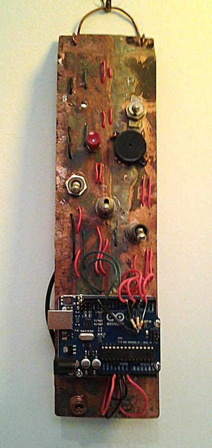 Manoa Logic Morse Code Wall Art With Arduino Found Materials 3 Steps Instructables