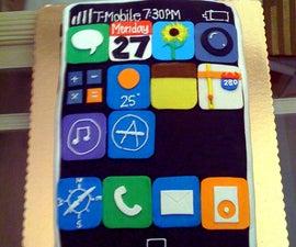 Hacked iPhone Birthday Cake