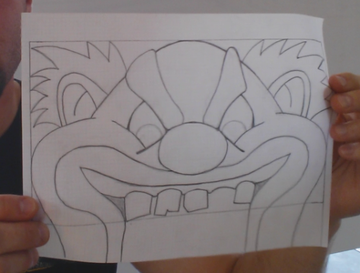 Step 1: Design Your Scary Clown Face.