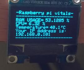 Raspberry Pi Vital Monitor Via OLED