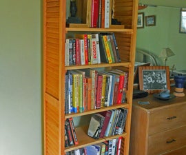Louvered Plantation Shutter Bookcase