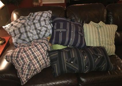 How to Make a No-Sew Button Down Shirt Pillow