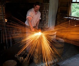 Making 1000 nails - Colonial Blacksmithing
