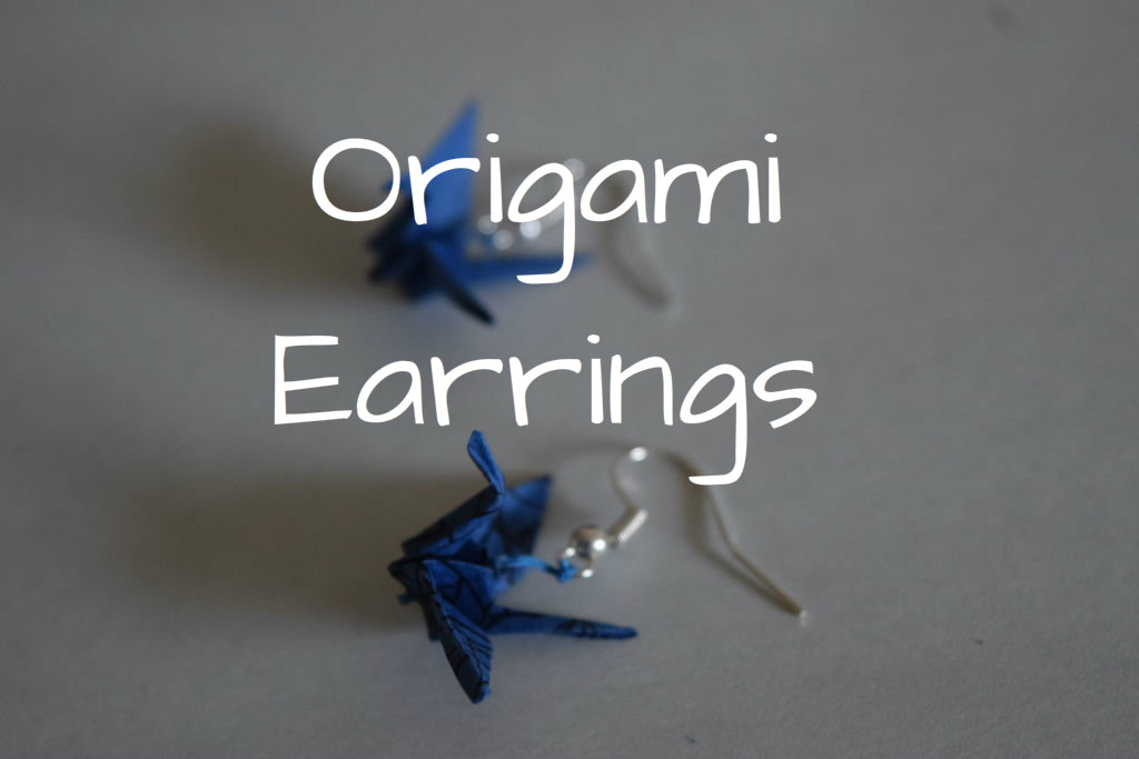 Picture of DIY Origami Crane Earrings