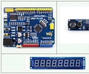 Arduino, Laser Obstacle Detection / Proximity Sensing / Line Counter