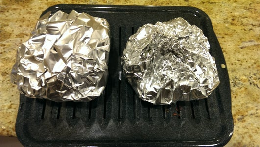 Cover Both Cabbage Domes With Foil