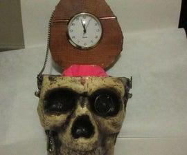 Steam Punk Skull Desk Clock