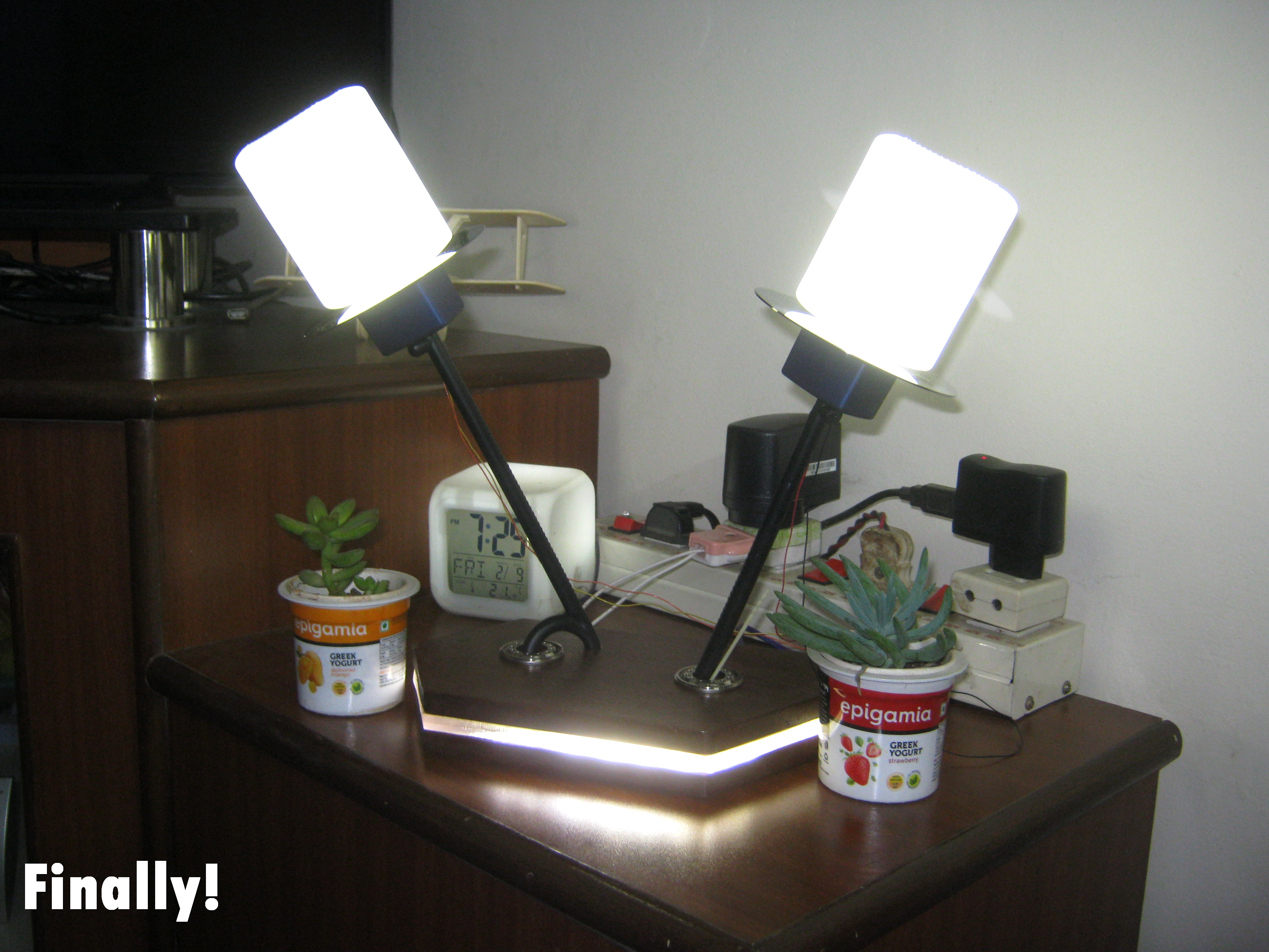 Picture of LED Night Lamp/Table Lamp Using Old Bottle