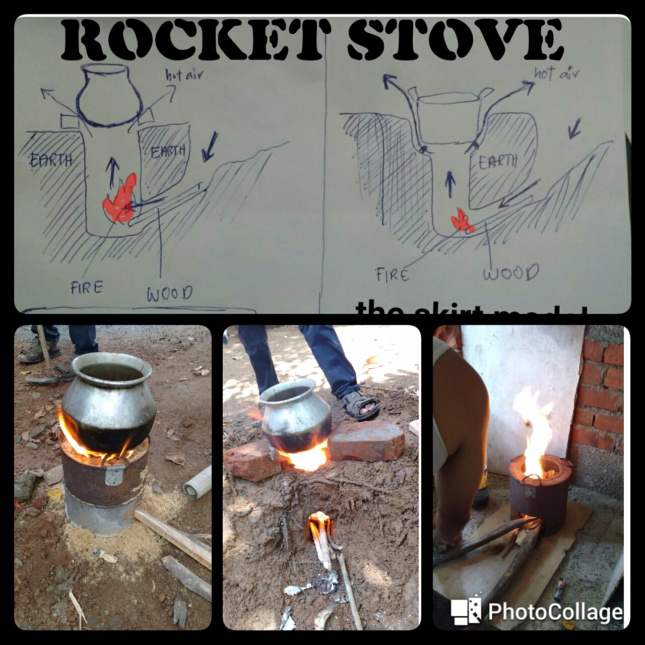 Picture of RoCkeT StOvE(one in the Ground & a Usual One)