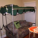 Pipe Loft Bed - Galvanized Steel