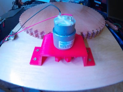 Ataching the Motor Support Onto the Base