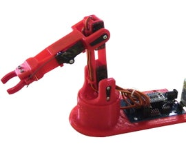 3D Printed, Bluetooth Controlled, Arduino Robot Arm - LittleArm 2C
