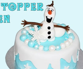 Frozen Snowman Olaf Fondant Icing Cake Toppers