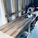 Heavy Duty Workbench With Chop Saw