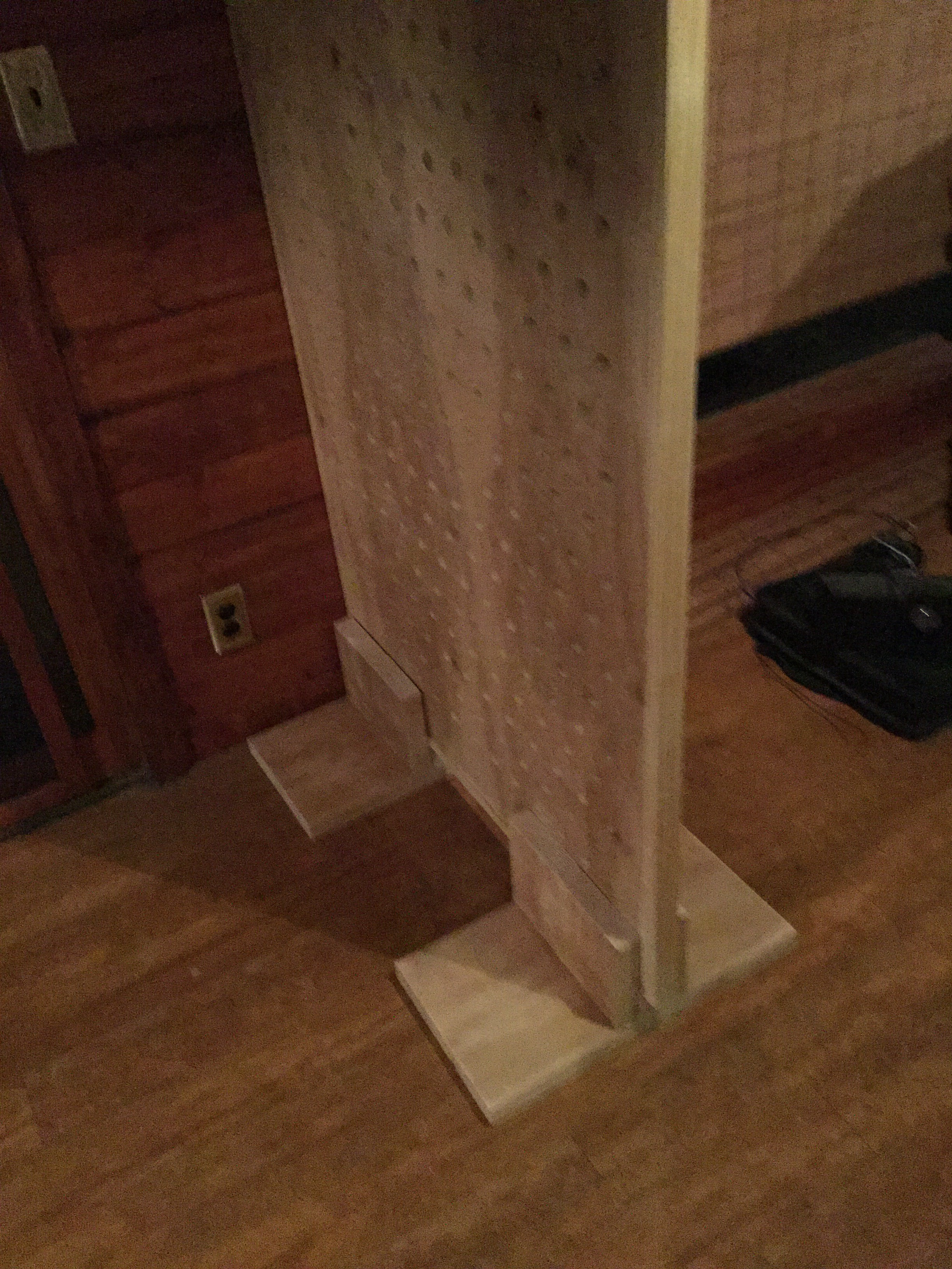 Picture of Step 8: Position Backboard in Base and Add Partially Assembled Pegs