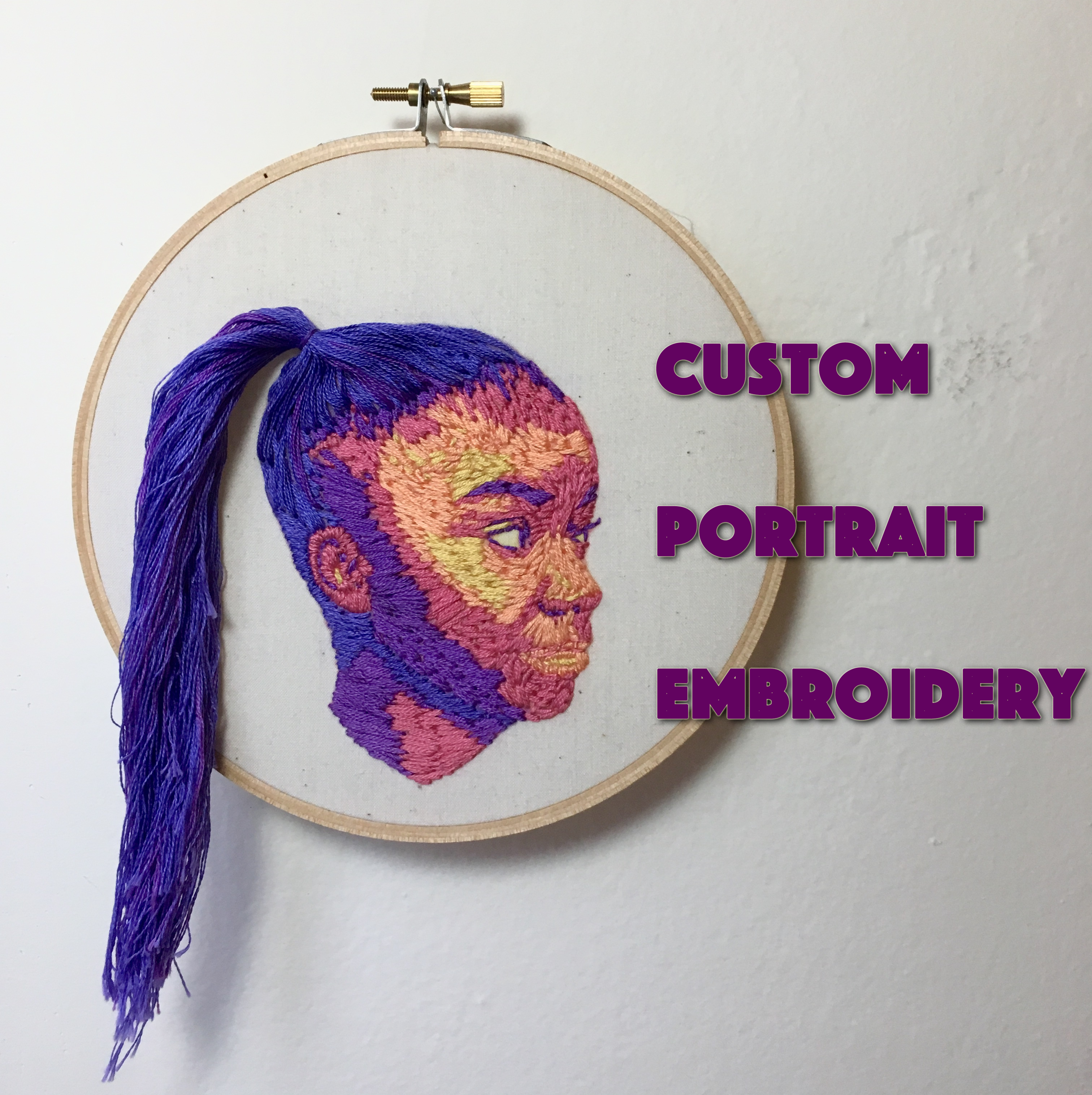 Picture of Rainbowscale Portrait Embroidery