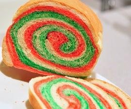 Color swirl sandwich bread