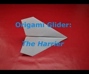 How to Fold the Harrier Origami Paper Airplane