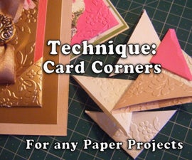 Technique: How to Make Card Corners for Your Paper Projects
