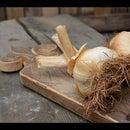 Carved Garlic Holder