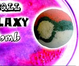 DIY Pokeball Galaxy Bath Bomb