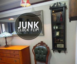 Junk Clock to Wall Cabinet!