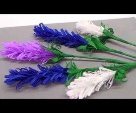 How to Make Lavender Paper Flower | Flower Making for Beginners / DIY Paper Crafts / Julia DIY