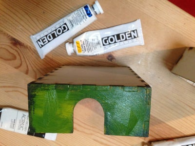 Paint the Front of Your Box - Distressed Yellow/blue/green