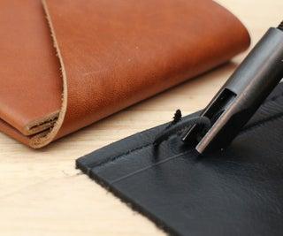 Gouging and Folding Leather