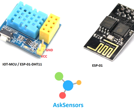 Low-cost Temperature and Humidity Monitoring Using the IoT-MCU ESP-01-DHT and AskSensors