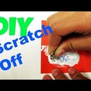 How to Make Scratch Off Card