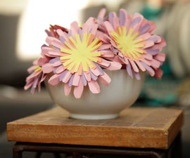 Simple Paper Flowers With Rubber Cement