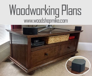 TV Stand With Cord Storage & Plans!