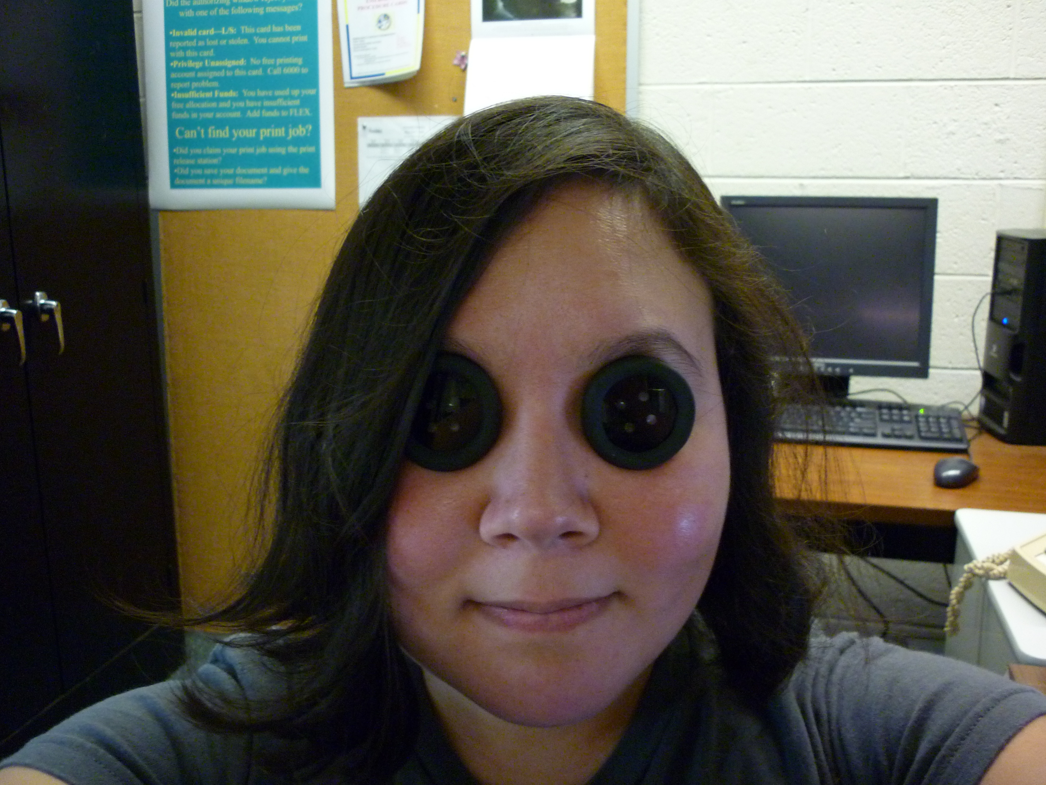Picture of Coraline Button Eyes (see Through and Prescription)
