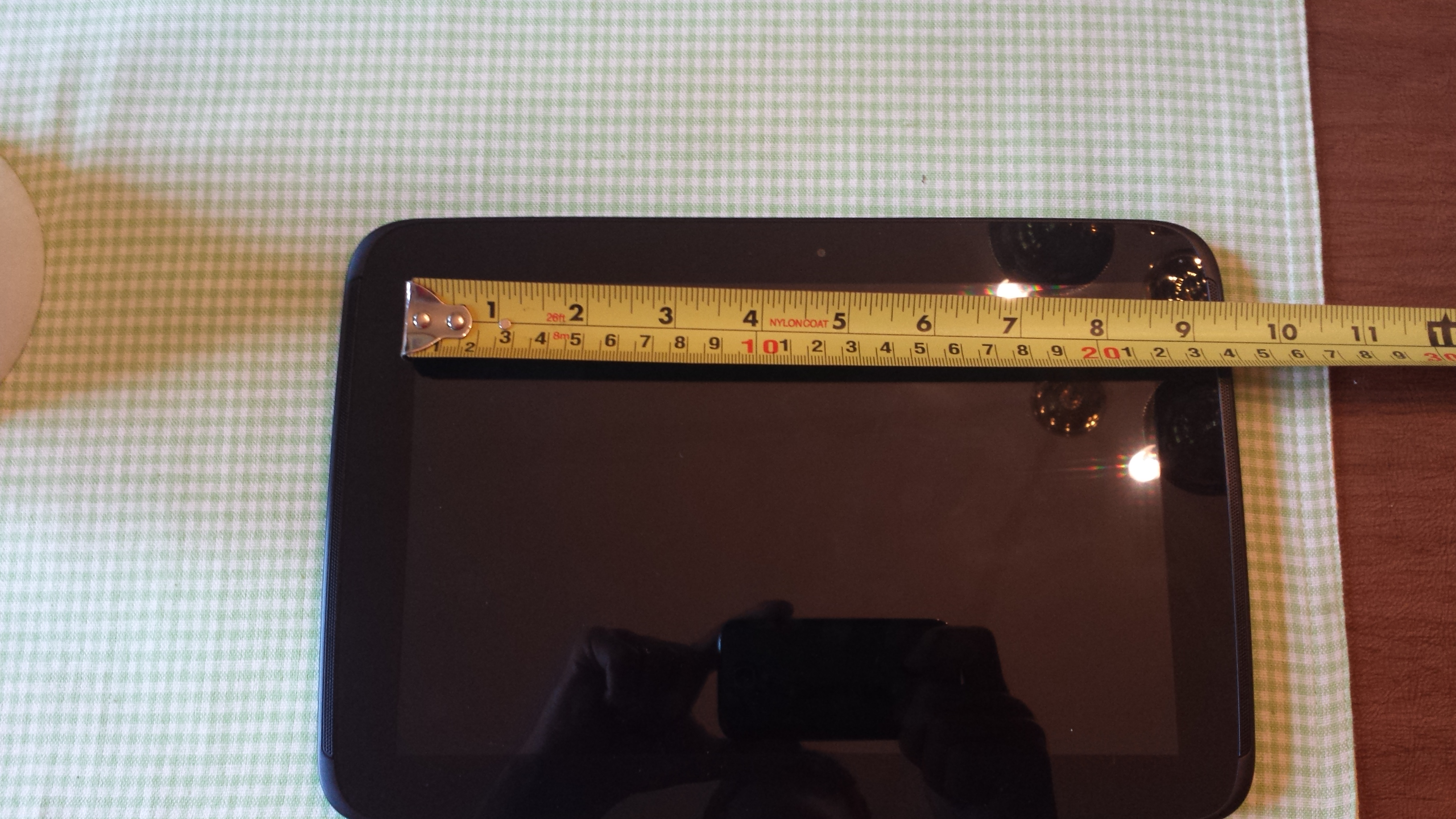 Picture of Establishing the Size of Your Tablet