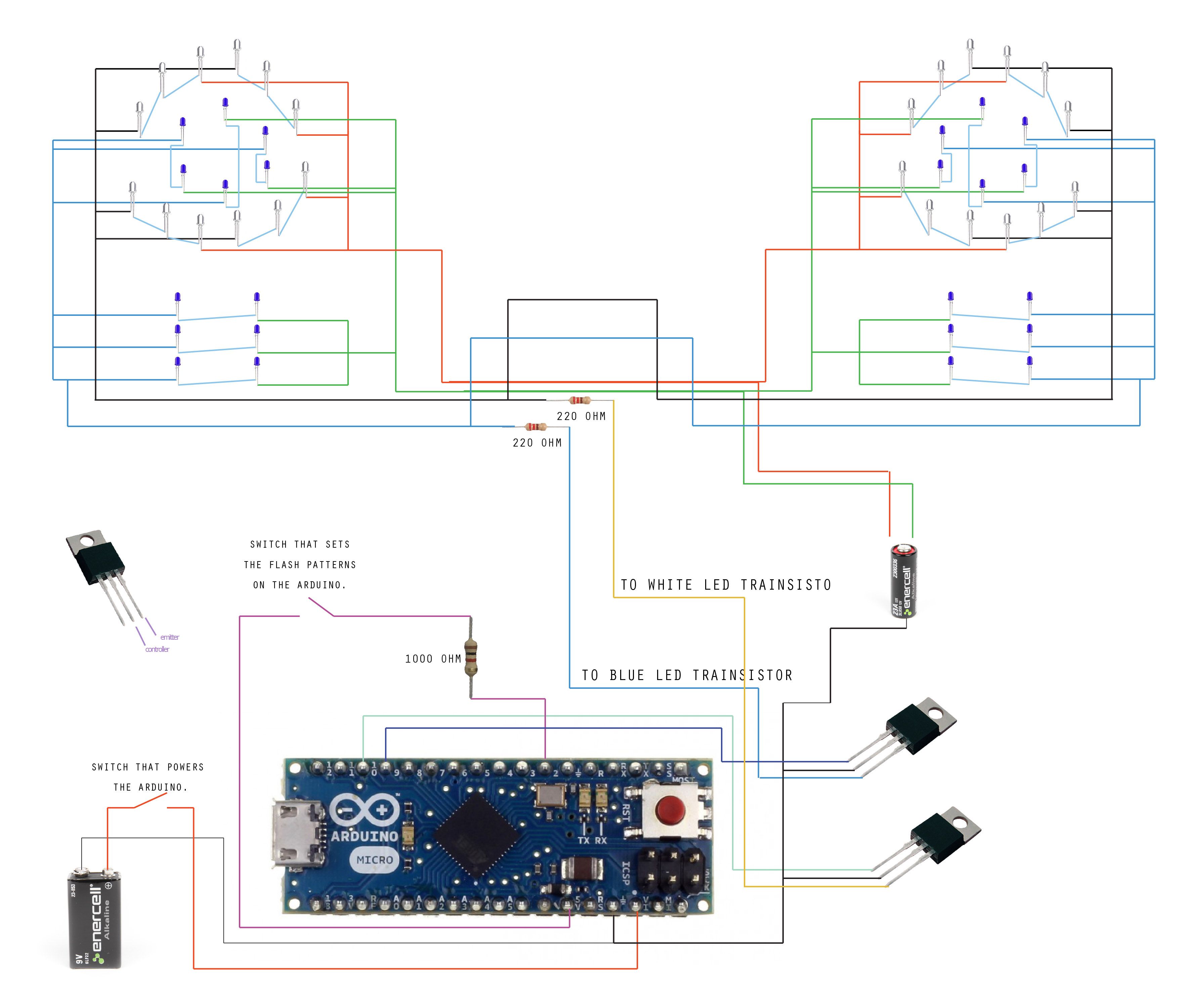 Picture of Wire Batteries and Arduino