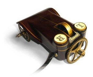 A Wheeled Steampunk Mouse